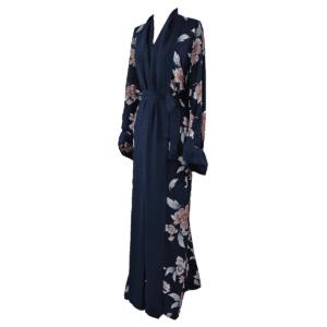 Abaya-Kimono-Fleurie-Bleue Ma-Abaya