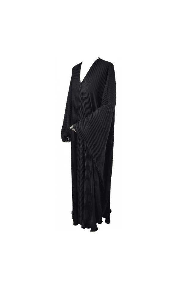 Abaya-plissée-noire Ma-Abaya