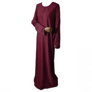 abaya-simple-bordeaux Ma-Abaya