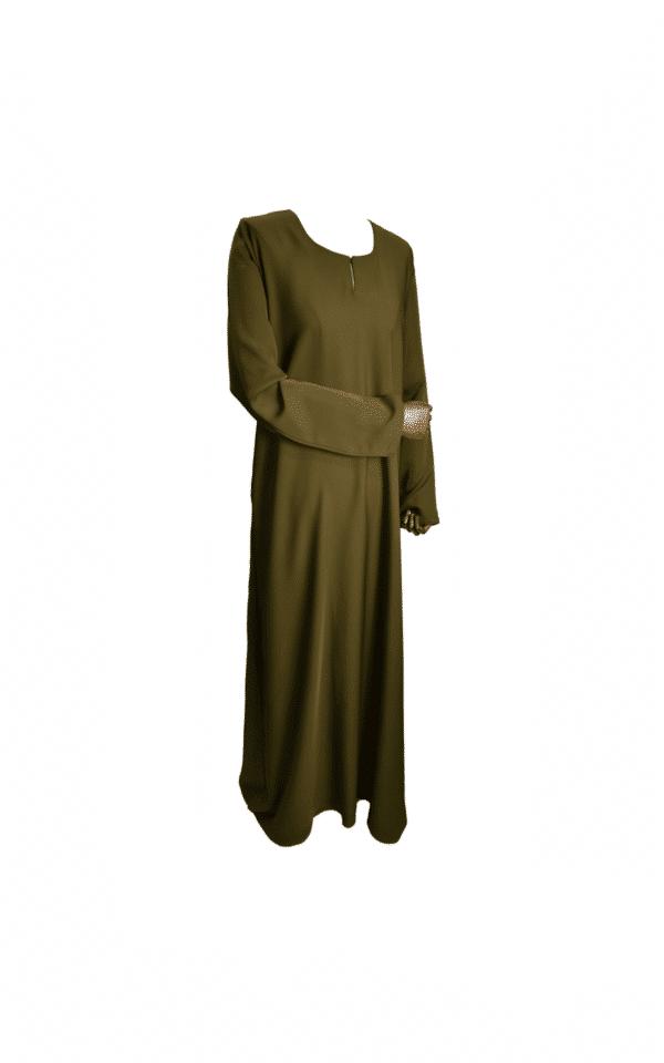 abaya-simple-kaki Ma-Abaya